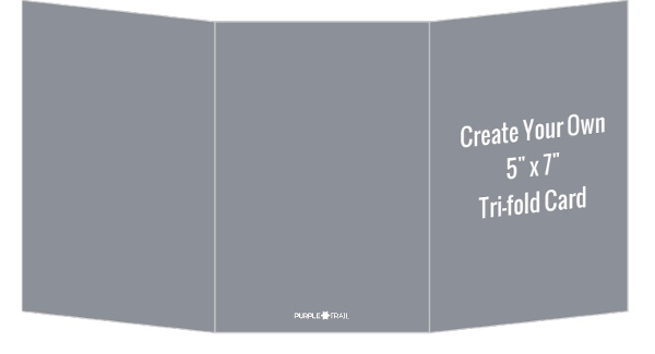 Create Your Own 5x7 Tri-fold Card Create Your Own Cards - Tri Fold Card