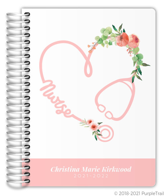 Cute Simple Pattern Real Foil Monthly Planner Monthly Planners