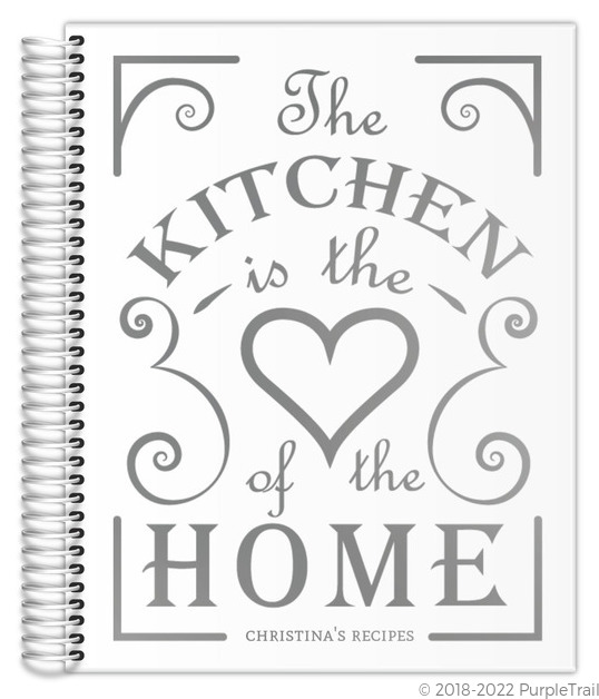 Heart Of The Home Real Foil Recipe Journal 85x11 Recipe Journals