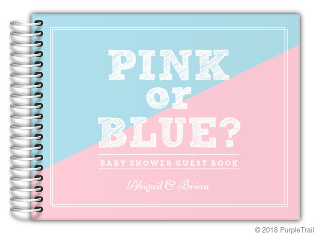 Pink or Blue Baby Shower Guest Book Baby Shower Guest Books