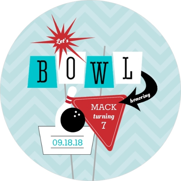 Turquoise And Red Retro Strike Bowling Birthday Invitation Bowling