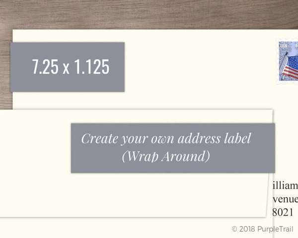 Wrap Around Address Label - Design Your Own Create Your Own Labels