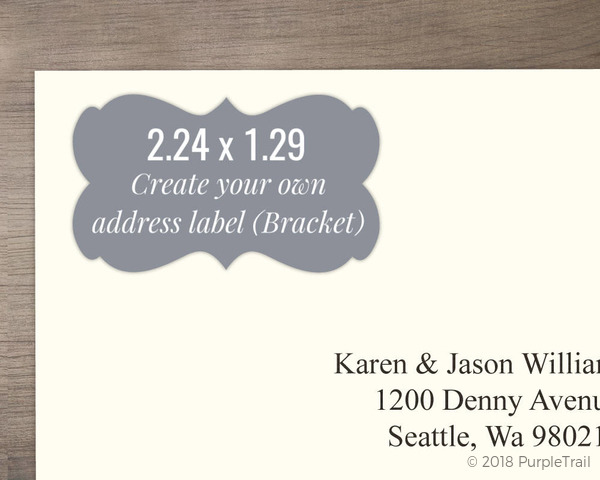 Bracket Address Label - Design Your Own Create Your Own Labels