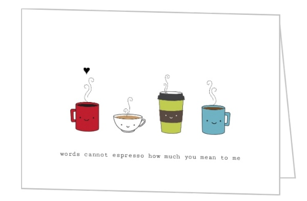 Words Cannot Espresso Valentines Card Valentines Day Cards - valentines cards words