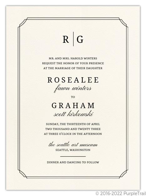 Beautiful Formal Double Frame Wedding Invitation Elegant Wedding