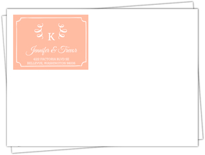 Taupe And Peach Feather Wedding Invitation Rustic