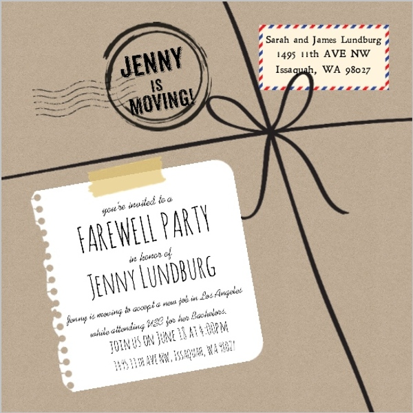 Farewell Party Invite Going Away Party Invitations