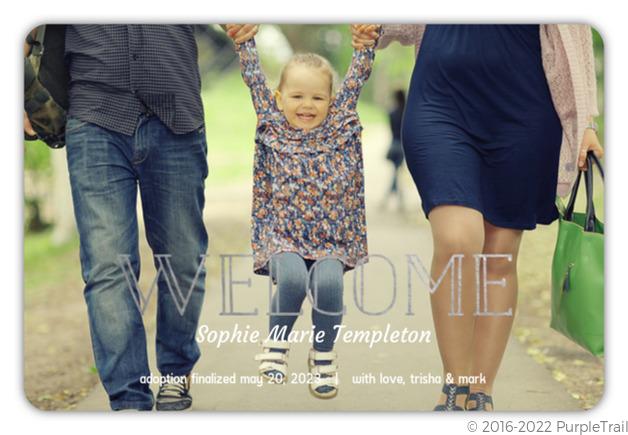 Foil Welcome Adoption Announcement Photo Birth Announcements