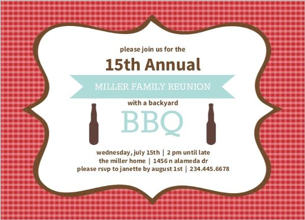 Family Reunion Invitations - invitations for family reunion