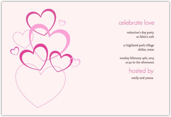 Love Bubbles Valentine S Day Invitation Valentines Day Invitations