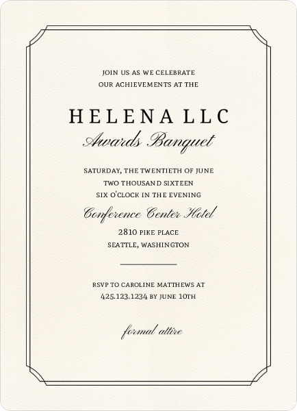 Formal Double Frame Corporate Event Invitation Business Event