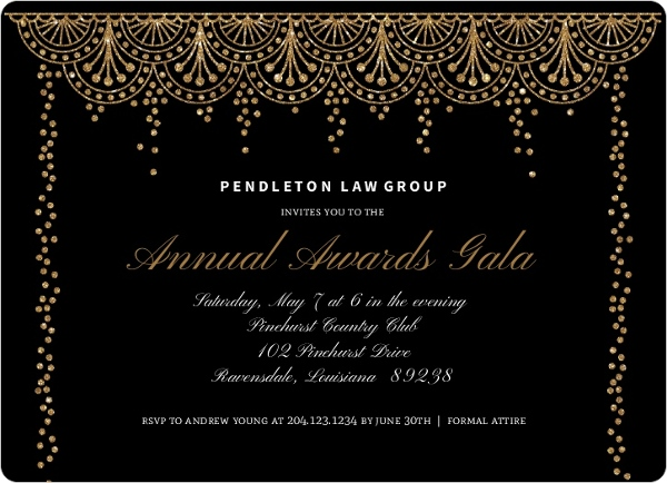 Formal Glam Corporate Event Invitation Business Event Invitations
