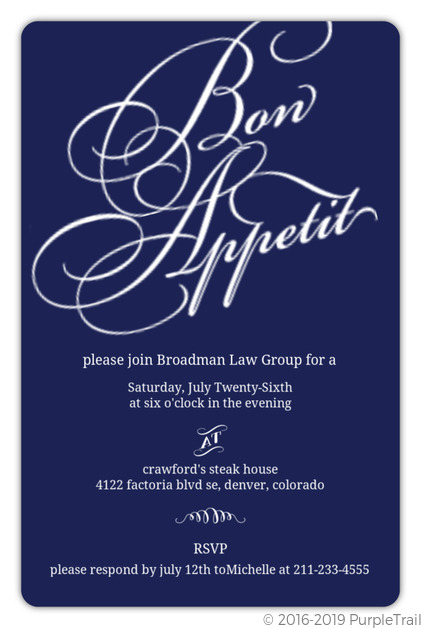 Navy Modern Lettering Corporate Event Invitation Business Event