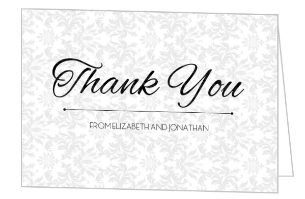 Fancy Pattern Thank You Card Business Thank You Cards