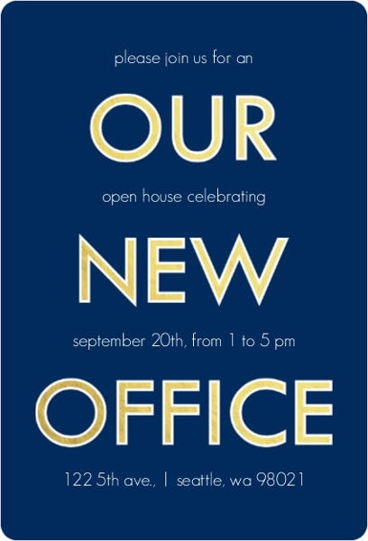 new office open house invitation - Eczasolinf
