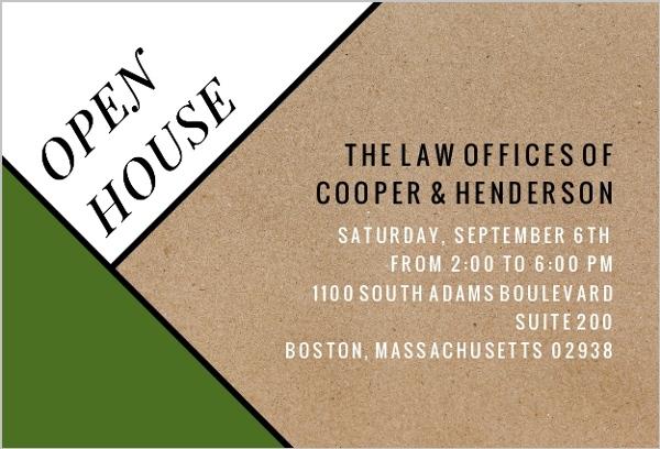 Modern Kraft Business Open House Invitation Business Open House - business open house invitation