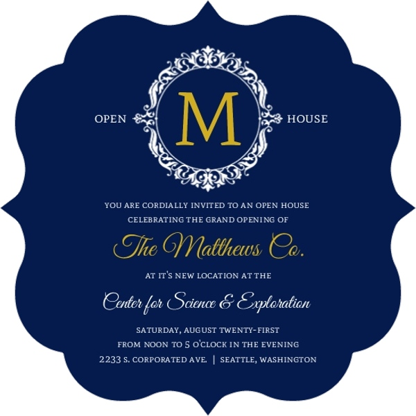 Business Open House Invitations  Business Open House Announcements - business open house invitation