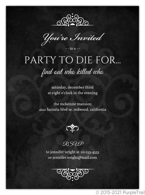 Dinner Party Invitations  Dinner Invitations