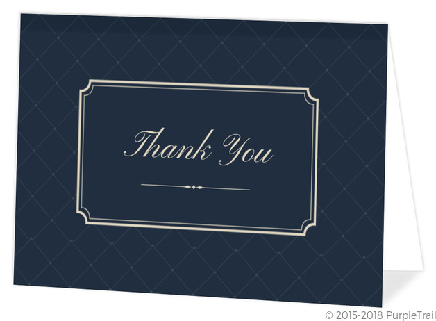 In Loving Memory Traditional Memorial Thank You Card Funeral Thank