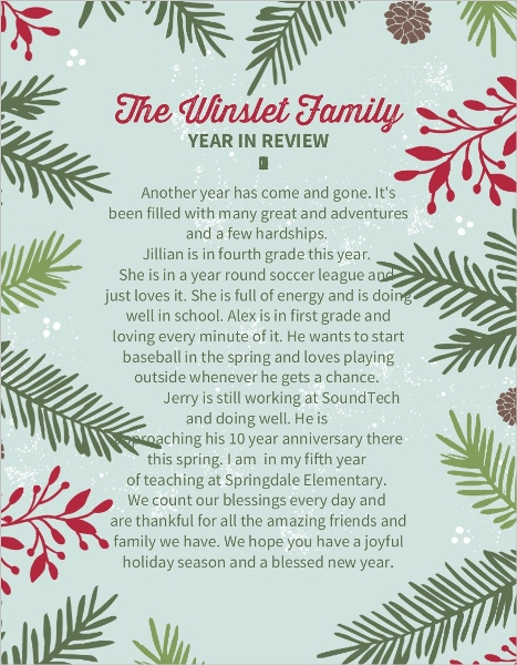 Christmas Letter Templates - christmas letter templates