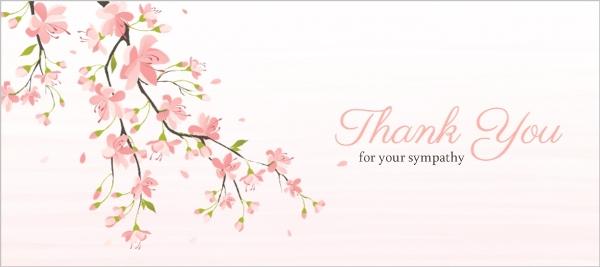 Sympathy Thank You Cards  Thank You for Sympathy Card