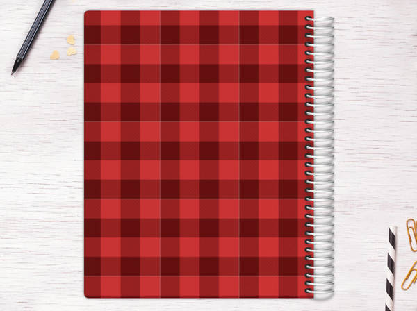 Kraft Scallop Plaid Recipe Journal Recipe Journals - recipe journals