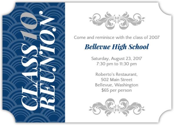 High School \ College Class Reunion Invitations - class reunion invitation template