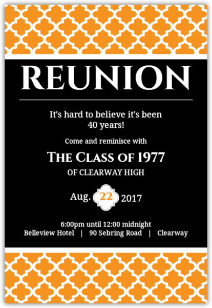 reunion invitation card templates - Ozilalmanoof