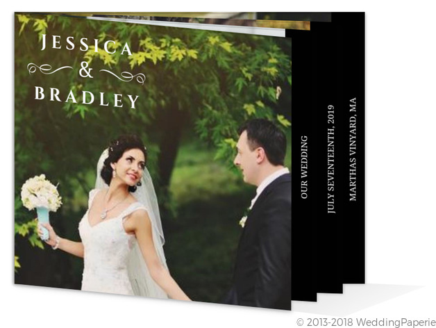 Formal Black and White Wedding Booklet Thank You Wedding Thank You