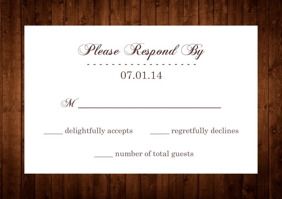 Wedding Rsvp Wording Formal And Casual Wording You Will