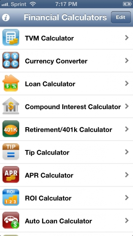 EZ Financial Calculators Pro Finance App Review (iOS, $499) for