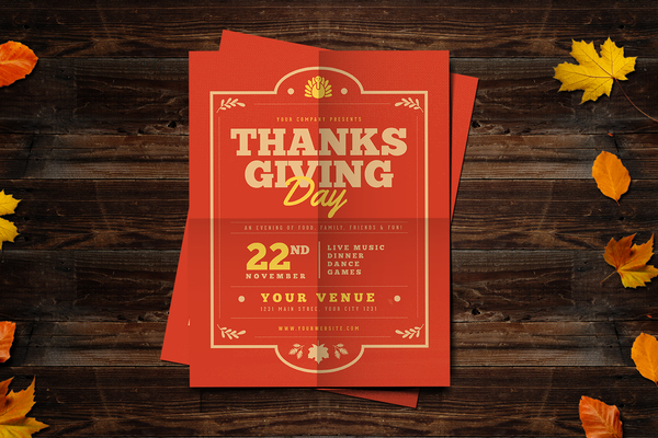 Thanksgiving Flyer Template for only $10 Designsnet