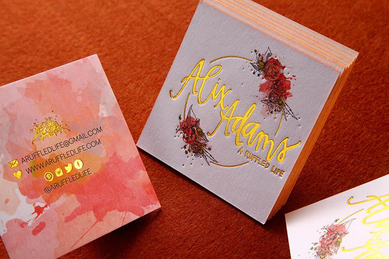 Letterpress Business Cards - An Elegant Old World Look 4ColorPrint - letterpress business card