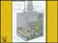 Cleaning a furnace pilot light.