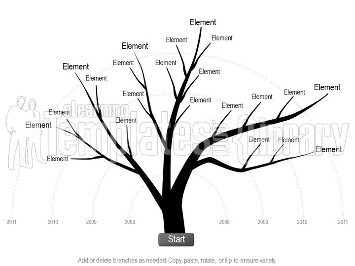 Tree Diagrams Graphic for PowerPoint Presentation Templates