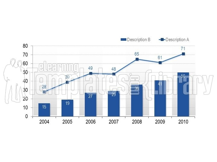 PowerPoint Line Chart Graph - Background Presentation Graphics and - chart and graph