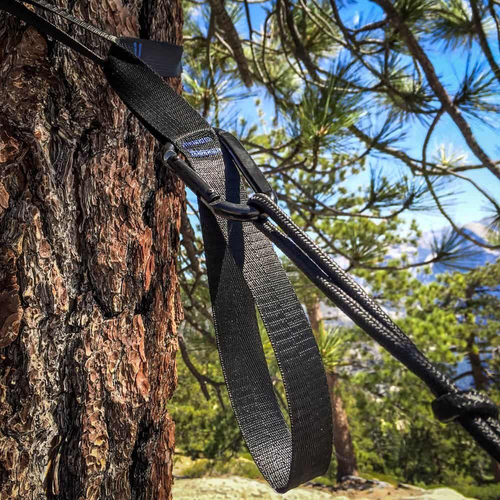 new upgraded carbon steel black camping hammock tree hugger straps