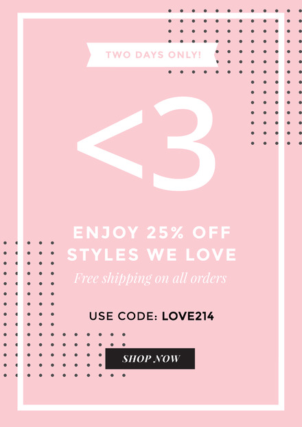 Pink Background Valentine\u0027s Day Sale Design - for sale poster template