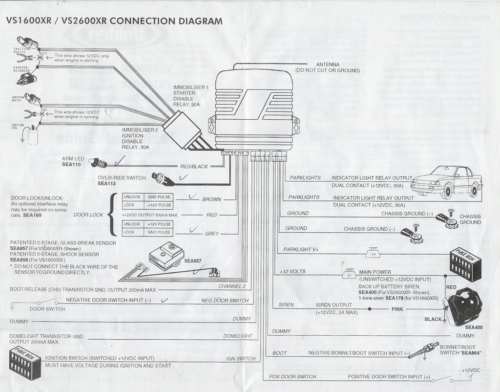 uniden vs1600xr wiring diagram