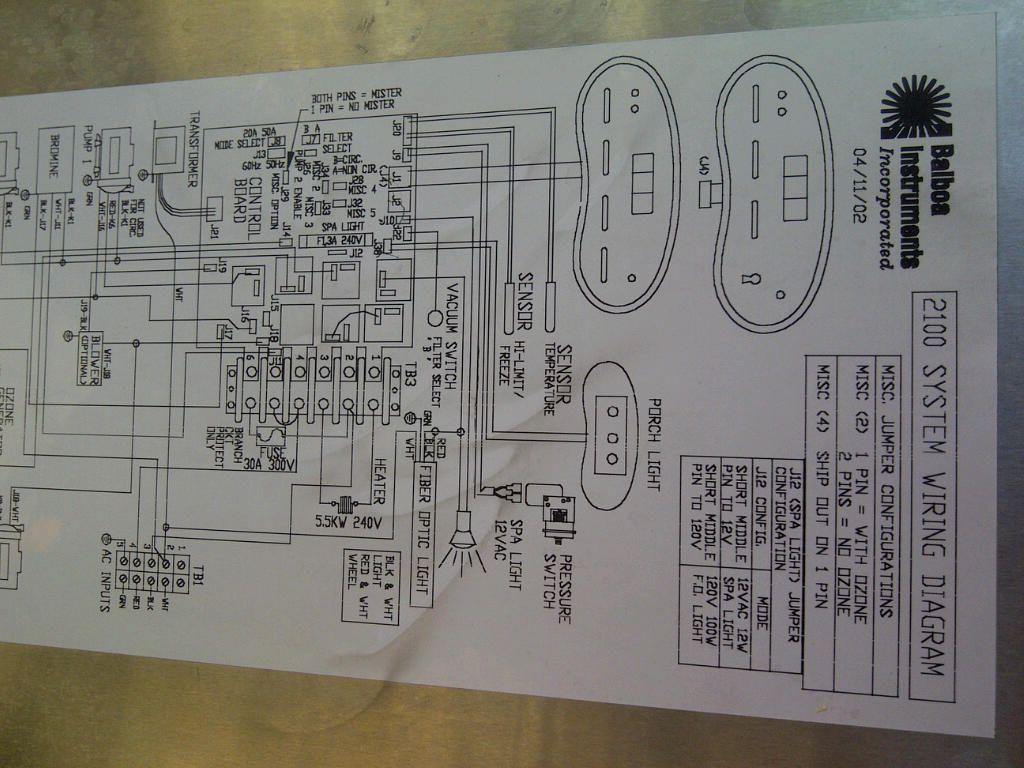 cal spa wiring diagram