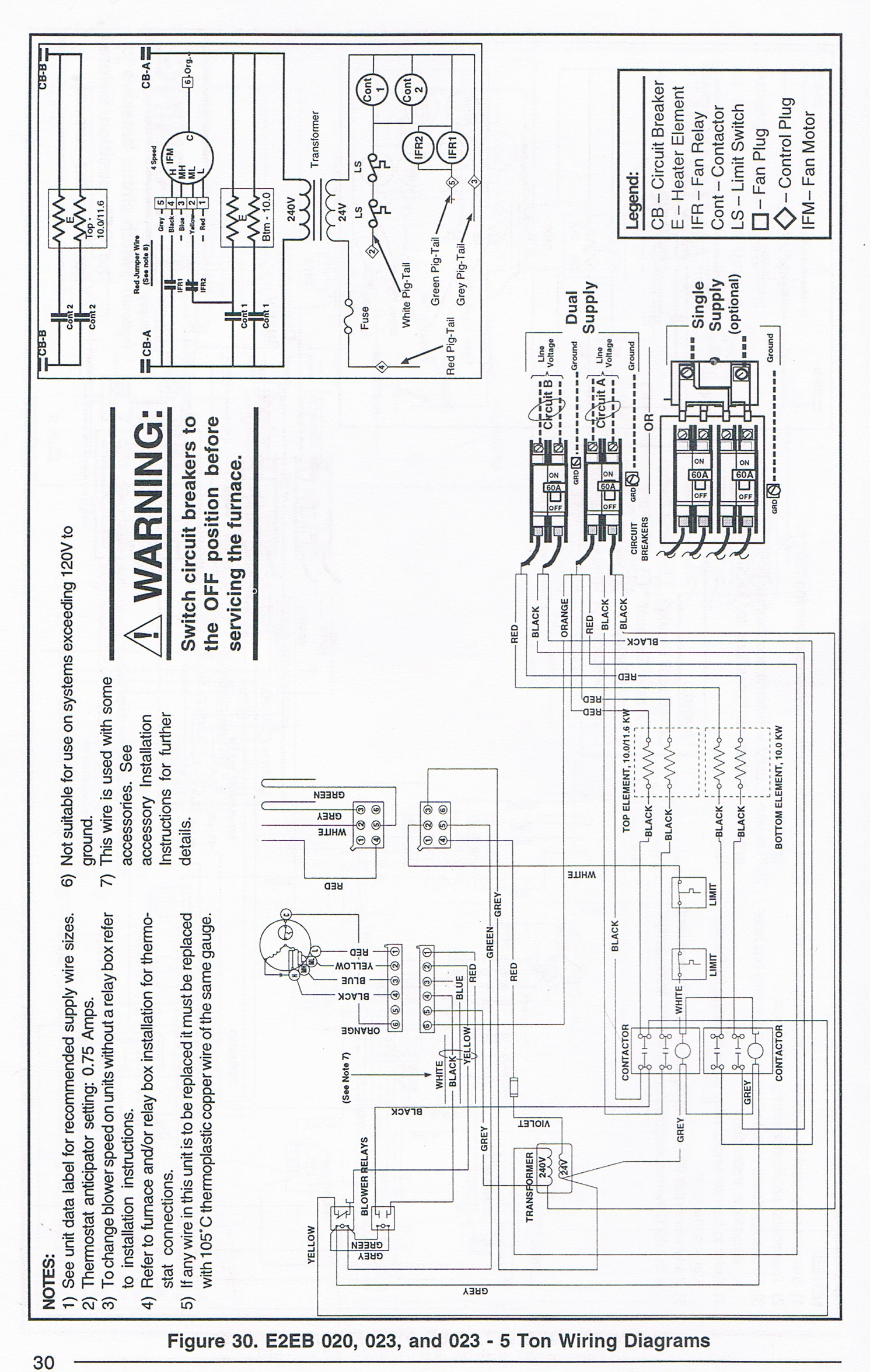 intertherm 015h contactor wiring diagram