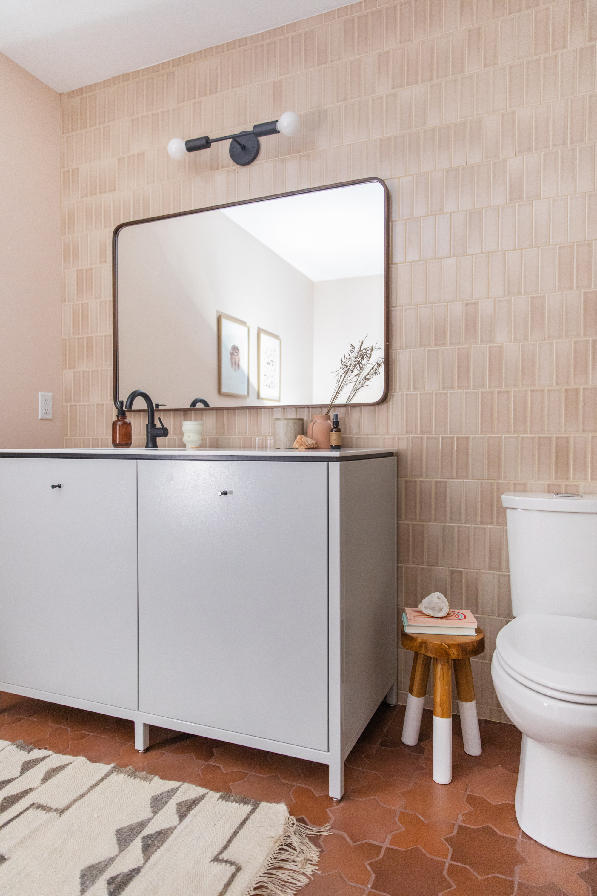 The Fresh Exchange Basement Bathroom Fireclay Tile