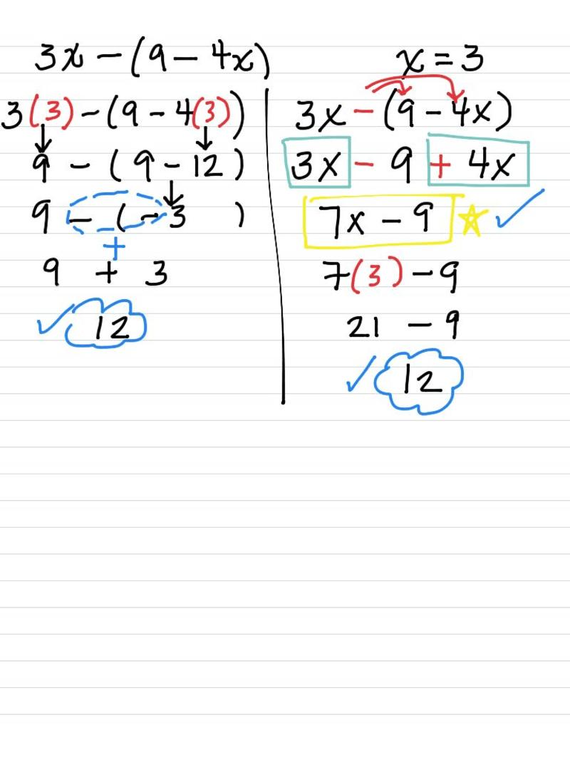 7th grade algebra