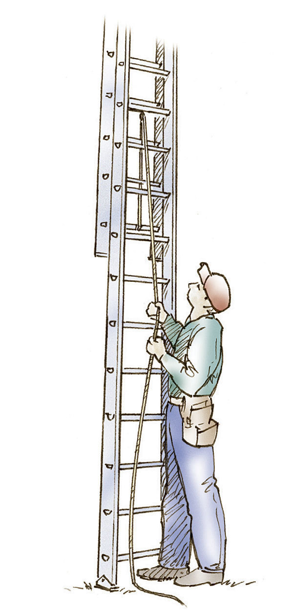 Using Extension Ladders Safely - Fine Homebuilding - the ladders