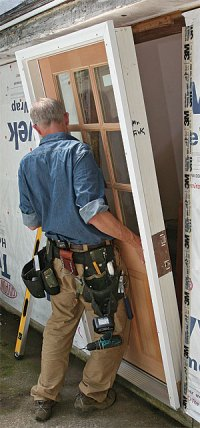 Exterior Door  Installing Prehung Exterior Door ...