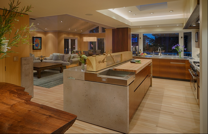 Koa Wood Kitchen Cabinets Pebble Beach Retreat Kitchen - Fine Homebuilding