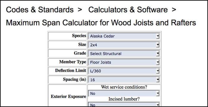 Online Calculators Help Cover Deck-Load Requirements - Fine Homebuilding