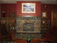 Slate Fireplace In The Style Of Rookwood Pottery - Fine ...