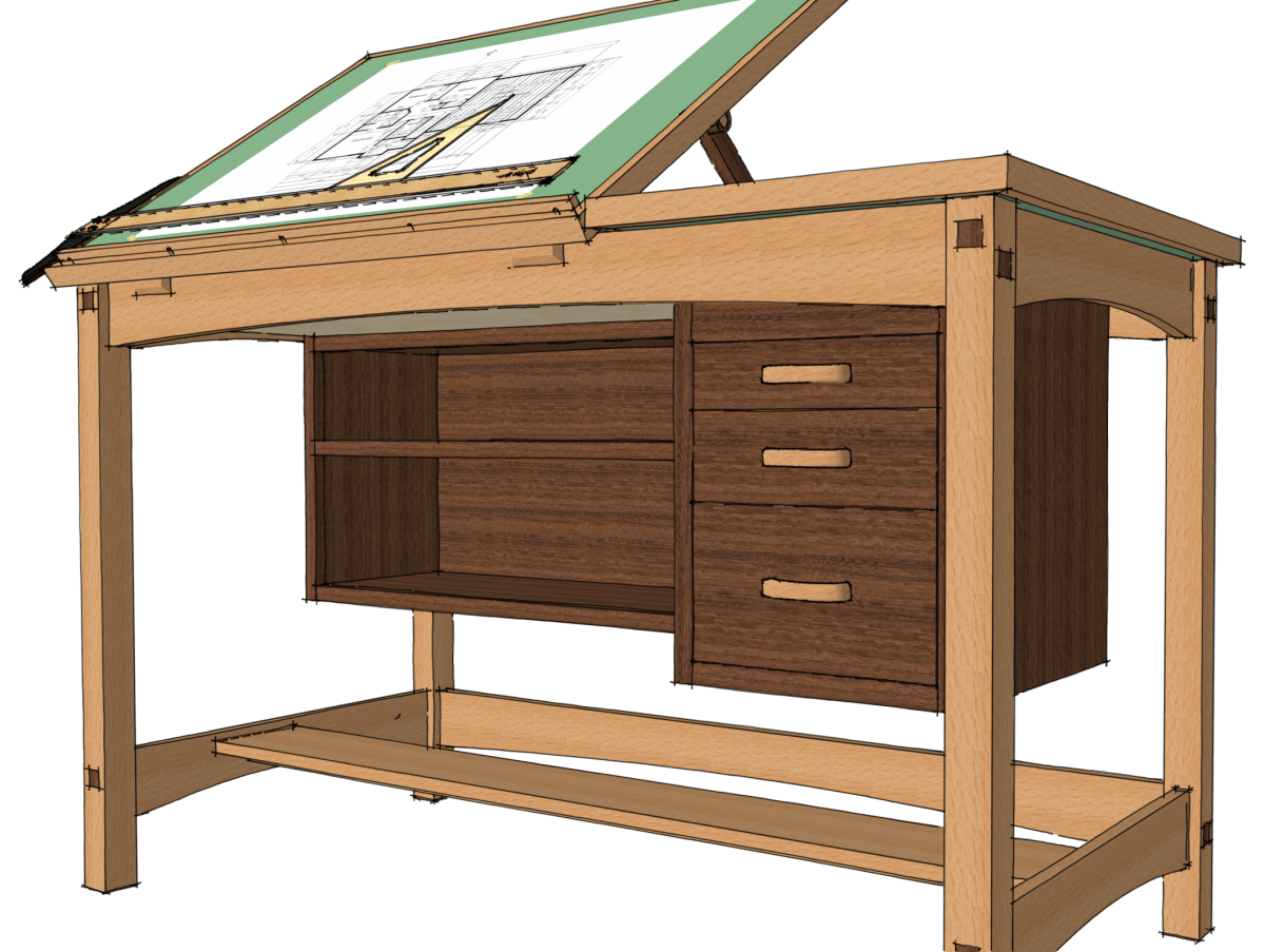 Drafting Table Design Exchanging Components Finewoodworking