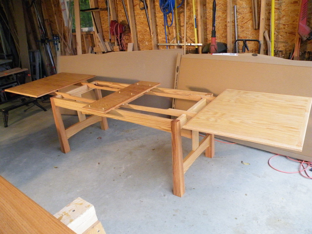 Building A Dining Room Table With Leaves Dutch Pullout Dining Room Table Finewoodworking